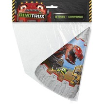 Dinotrux Party Hats [8 per Pack]  - £5.31 GBP