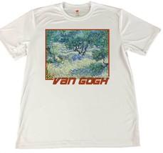 Vincent Van Gough Olive Grove Wicking T-Shirt w Flag Car Coaster - $14.80+
