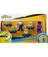Fisher-Price Imaginext Minions The Rise of Gru Figure Pack, Set of 6 Fil... - $19.99