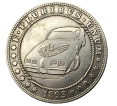 US Hobo Nickel Morgan Dollar Vintage Pontiac Firebird Old Car Silver Cas... - $9.49