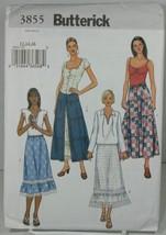 Butterick 3855 Sewing Pattern Petite Prairie Boho Long Ankle Skirt SZ 12... - $14.95