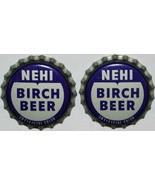 Soda pop bottle caps NEHI BIRCH BEER #2 Lot of 2 cork lined unused new o... - $5.99