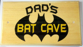 Large Personalised Bat Cave Plaque / Sign - Bedroom Shed Door Kids Dad Hero - $19.09