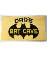 Large Personalised Bat Cave Plaque / Sign - Bedroom Shed Door Kids Dad Hero - $19.09
