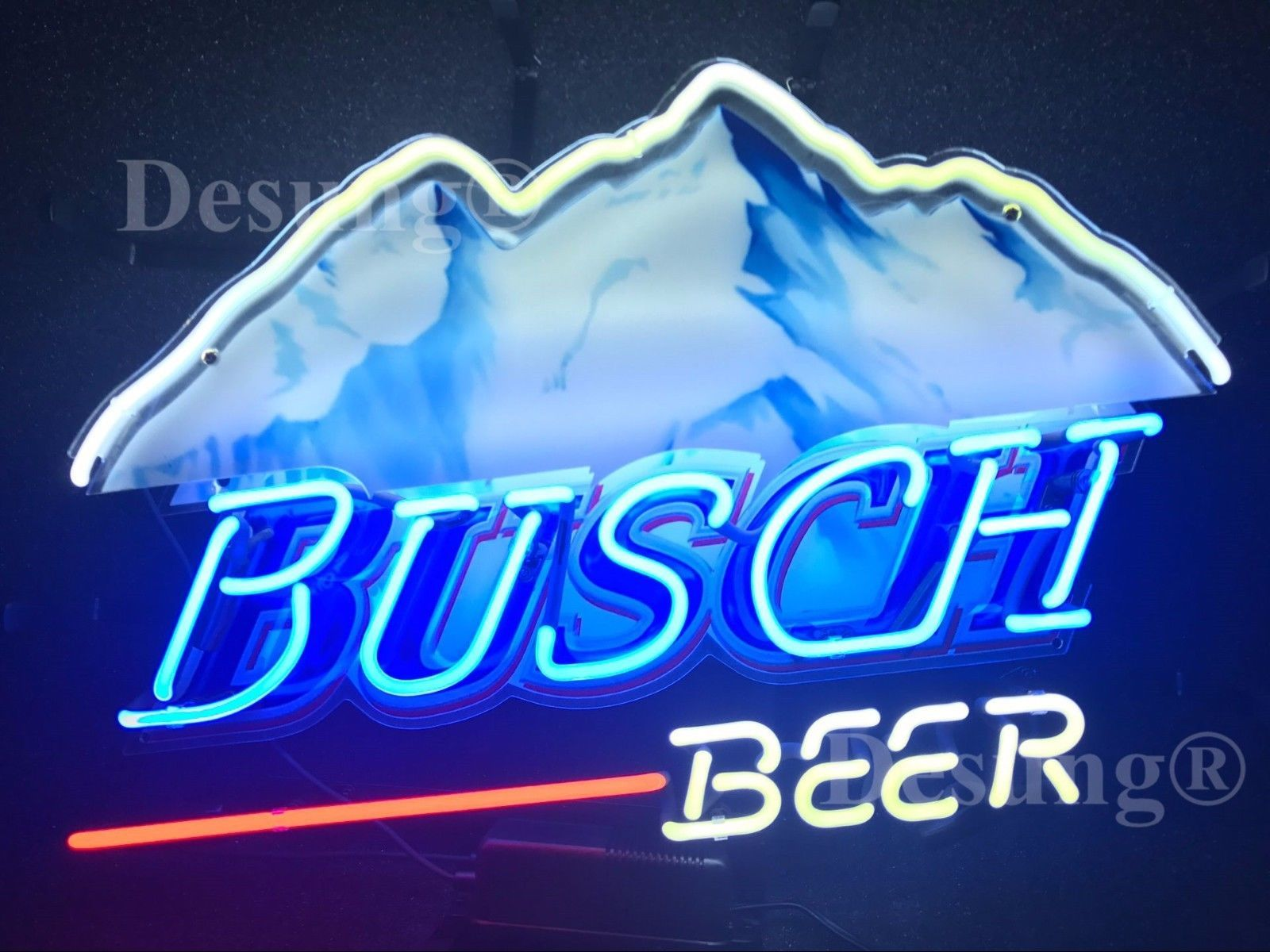 "New Busch Beer Mountain Neon Sign 24""x20"" with HD Vivid Printing Technology"