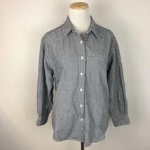 Eddie Bauer Women's Thick Flannel Navy Blue Button Front Shirt Size Medium  - $17.27