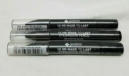 Jordana 12 Hr Made To Last Eyeshadow Pencil 02 Stay On Black Lot Of 3 - $9.89