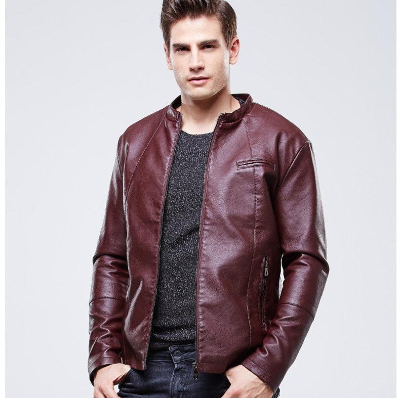 New Men's Genuine Lambskin Leather Jacket  Slim fit Biker Motorcycle jacket-G23