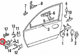 NEW NOS MOPAR GENUINE OEM Front Left Driver Side Door Check Arm 04897829AA - $28.97