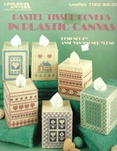 Pastel Tissue Covers in Plastic Canvas Boutique Size Leaflet 1123 1987 Easy Gift - $4.45