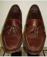Men's Neil M Classic Brown Leather Tassel Loafer/Moccasin Sz. 9.5 Nice - $37.12