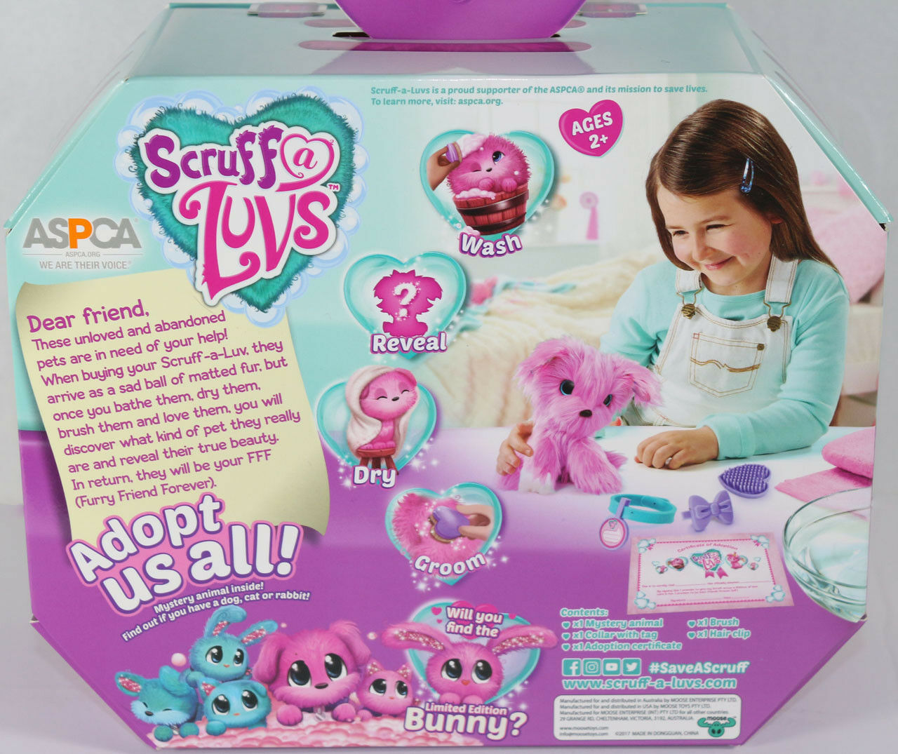 Moose LITTLE LIVE PETS SCRUFF A LUVS PINK Interactive RESCUE SURPRISE TOY New