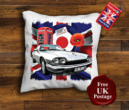 Jaguar XJS Cushion Cover, Jaguar XJS, Union Jack,Target, Mod, Poppy, - $9.31+