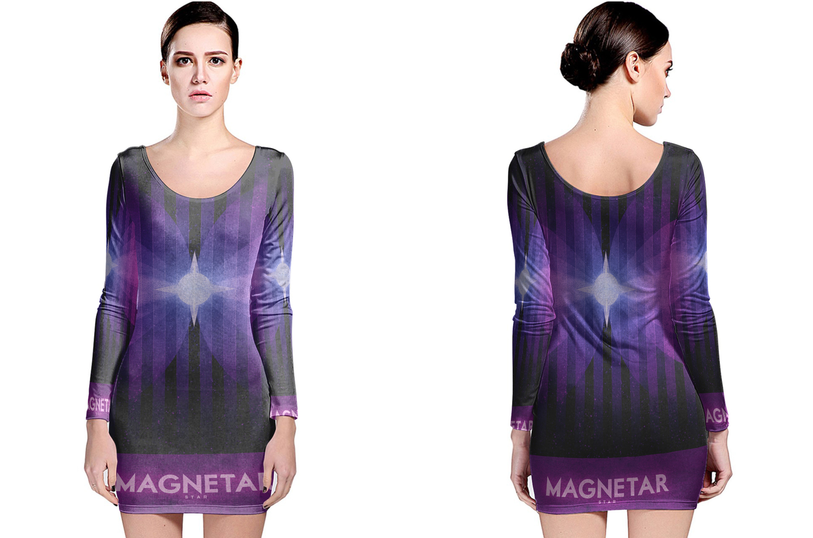 Star magnetar long sleeve bodycon dress