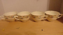 Vintage 4 Fine Porcelain China Tea/Coffee Cup-Bathroom-ShabbyChic-Bedroo... - $7.75
