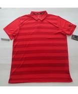Nike Men Golf Breathe Striped Polo Shirt - AR2581 - Red 657 - Size L - NWT - $22.99