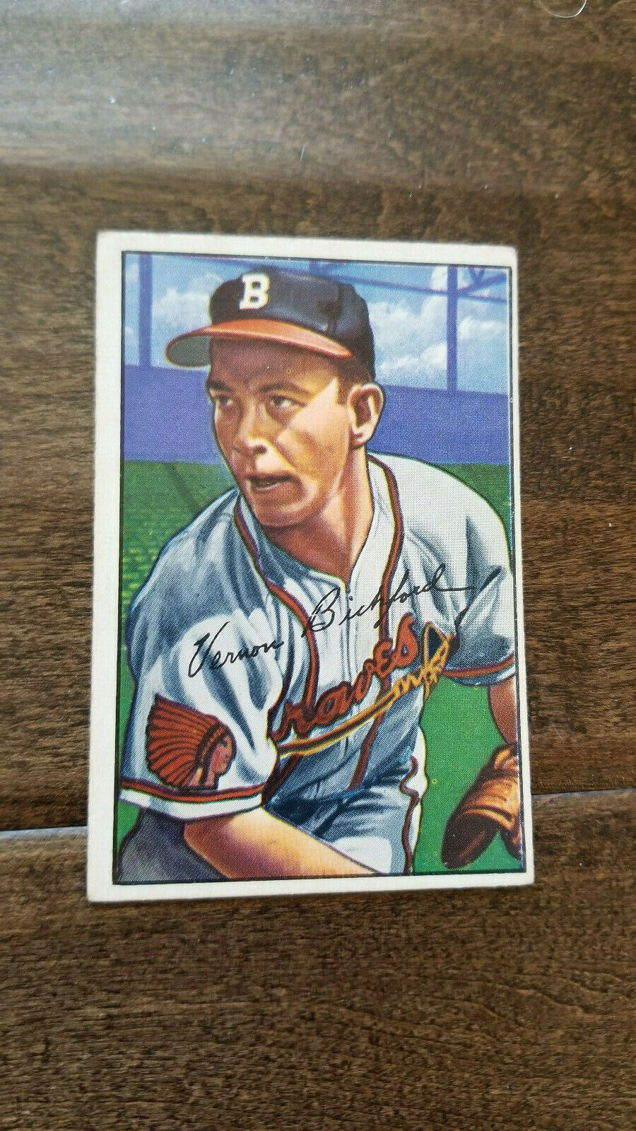 Primary image for 1952 BOWMAN BASEBALL CARD VERN BICKFORD BOSTON MILWAUKEE BRAVES NO HITTER # 48