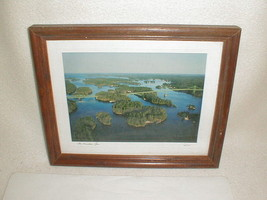 Canadian span 1000 islands bridge photo framed signed canada - $30.00