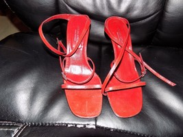 987ac0bfc79d73 Women  39 s Colin Stuart Red Patent Leather High Heel Sandal Ankle Strap 7.5