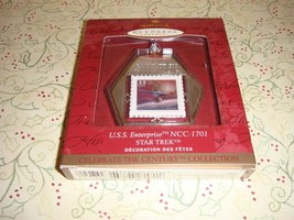 Hallmark 1999 Star Trek USS Enterprise NCC-1701 Postage Stamp Ornament - $14.99