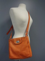 FOSSIL Orange Adjustable Strap Metal Hardware Cross Body Bag Size L B3189  - $74.25