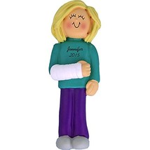 Cast on Arm: Blonde Female Ornament - $13.92
