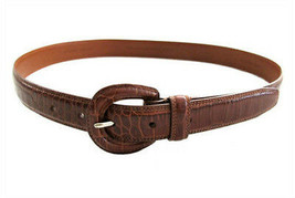 Ralph Lauren Golf Brown Croco Leather Belt size M - $18.00