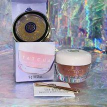 NEW Tatcha Kissu Peach Seed Sleeping Lip Mask + Gold Spun Camellia Lip Balm image 4