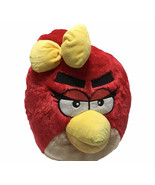 """Rovio Angry Birds Female Red Bird with Yellow Bow Plush Doll Backpack 14"""" - $23.06"""