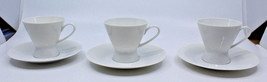 Rosenthal Continental Classic Modern White Coffee Tea Cups Saucer Set of... - $44.88