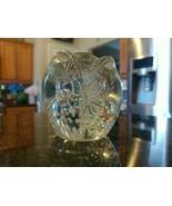 Owl Vintage Paperweight Pilgrim Art Bubble Glass Hand Blown - $55.34