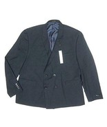 NEW BAR III BLUE TEXTURED DOUBLE BREASTED SLIM FIT BLAZER SUIT JACKET SI... - $39.59