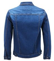 Men's Classic Button Up Removable Hood Slim Fit Stretch Denim Jean Jacket image 14