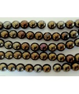 50 6mm Czech Round Beads: Iris-Brown - $2.47
