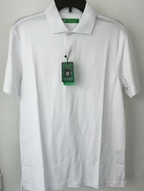 Oxford Golf Super Dry Cool Max Mens XS White Sleeve Polo Shirt NWT - $22.20
