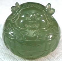 Nice Translucent Jade Carving of a Happy Fat Buddha Nice figure - $125.00
