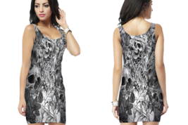 artwork skull Bodycon Dress For Women - $22.99+