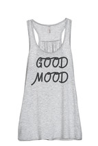 Thread Tank Good Mood Women's Sleeveless Flowy Racerback Tank Top Sport ... - $24.99+