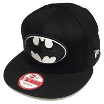 New Era DC Comics Batman Cap Logo Black Word Back Snapback 9fifty Cap - $29.69