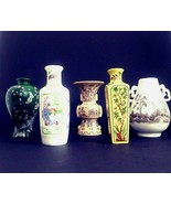 Franklin Mint Treasures of Imperial Dynasties Miniature Japanese Vases V... - $28.98
