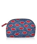 Avon Lips Print Blue Bag - $13.86
