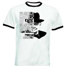 Winston Churchill - Masters of fate - BLACK RINGER COTTON TSHIRT - $19.53