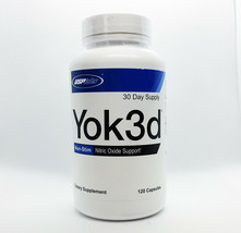 USP LABS YOK3D 120 Capsules Nitric Oxide Support Non Stim Pre Workout  - $21.75