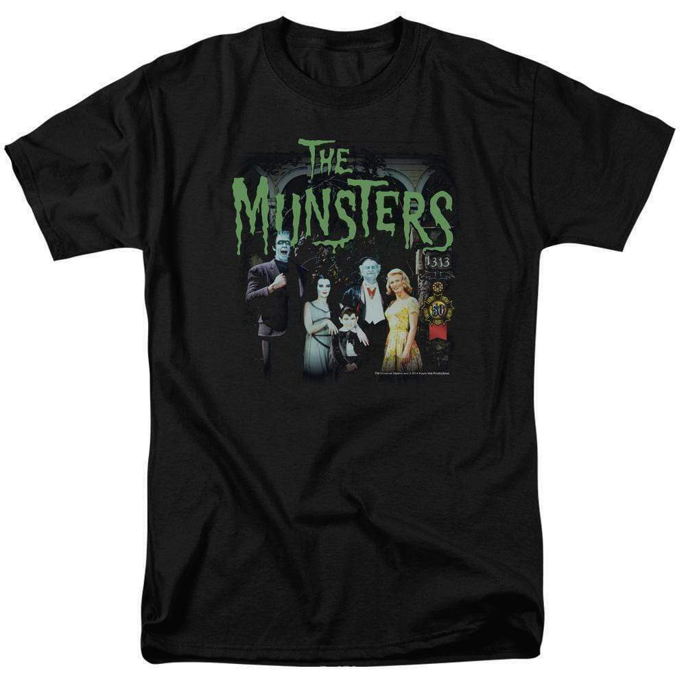 The Munster's family t-shirt 50 years retro 60's comedy graphic tee NBC895