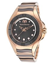 "NWD Technomarine TM-214002 Women's ""Blue Manta"" Gold Tone & Black Cerami... - $386.05"