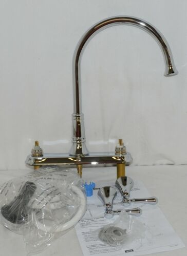 Delta Cassidy Two Handle Kitchen Faucet Side Spray Chrome 2497LF