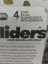 Magic Sliders 4 pack  2 In. Discs Self Adhesive Furniture Glide (SEALED)STORE image 5