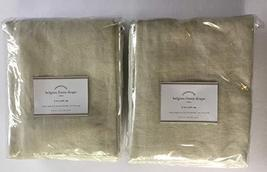 "Pottery Barn Belgian Flax Linen Drape ~3 in 1~Set of Two Panels~ 50"" x 84 ~Natur - $278.00"