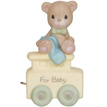 Precious Moments,  May Your Birthday Be Warm, Birthday Train Baby, Bisqu... - $21.94