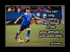 Inspirational Ali Krieger Soccer Motivation Quote Poster Daughter Wall A... - $19.99+